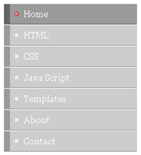 tutorial css menu vertical css vertical menu tutorials menu 7 blogger tips and tricks