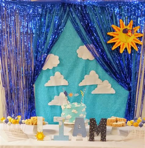 Rumbai Blue a weather themed 2nd birthday