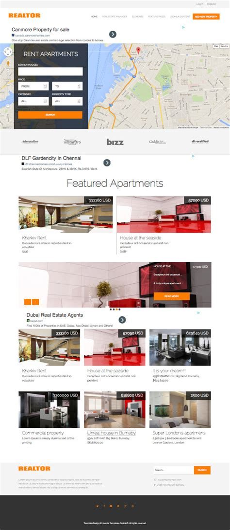 template joomla real estate free os realtor responsive joomla real estate dealer template