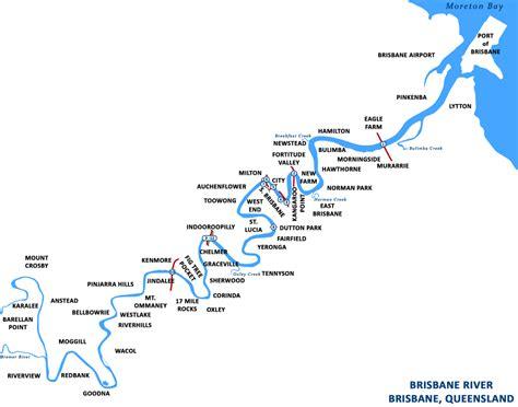 river map river map brisbane