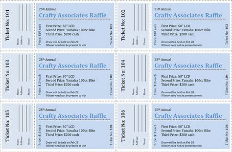 raffle ticket design template 28 images how to get a