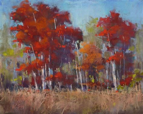 Painting With Pastels painting my world how to make a tree glow with pastels