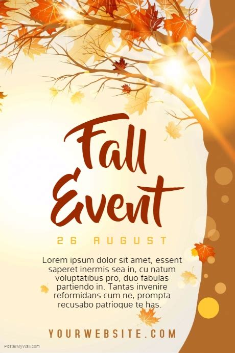 Fall Event Template Postermywall Fall Flyer Template