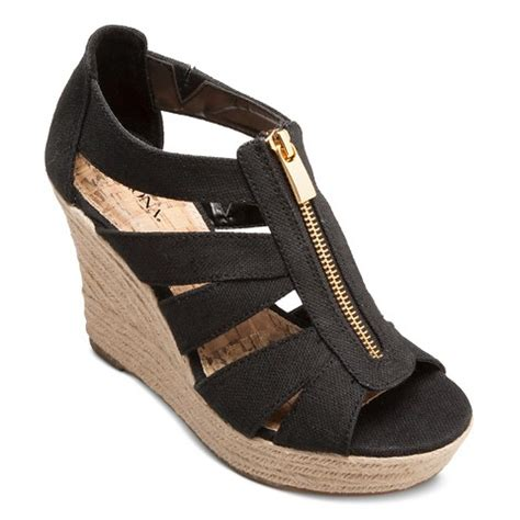 women s meredith zipper wedge sandals merona target