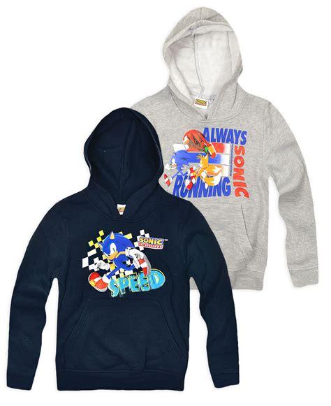 Hoodie Eggman Sonic 11 boys official sonic the hedgehog hoodie new hoodied jumper ages 3 8 years ebay