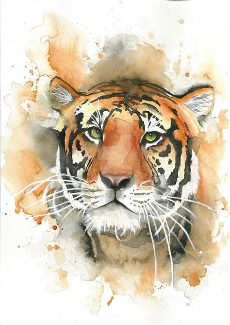 watercolor tattoo tiger 17 best ideas about watercolor tiger on tiger