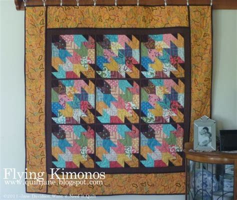 Geese Kimono flying geese quilt block pattern favequilts