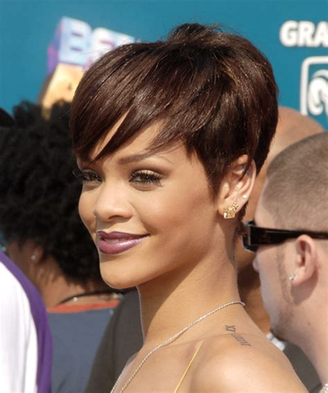 rihanna images of front and back short hair styles rihanna short hairstyles back and front www pixshark com