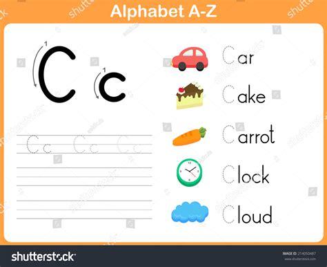 Alphabet Worksheet Set Letters Az by Alphabet Tracing Worksheet Writing Az Stock Vector