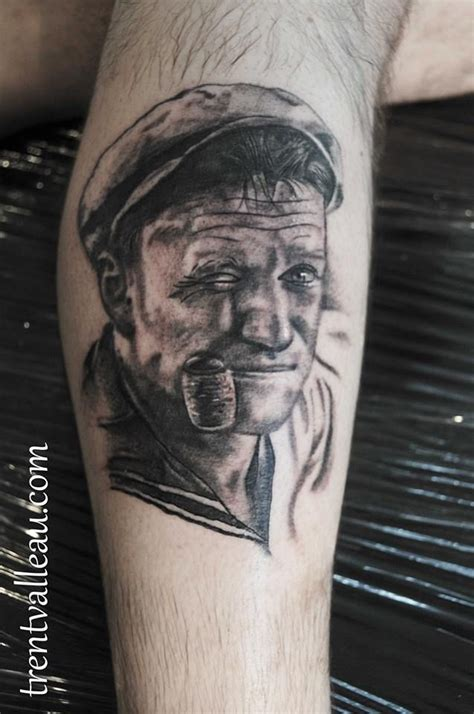 popeye portrait tattoo robin williams realistic