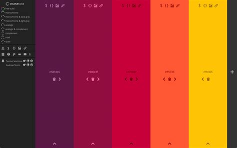 colour themes html best color palette generators html color codes