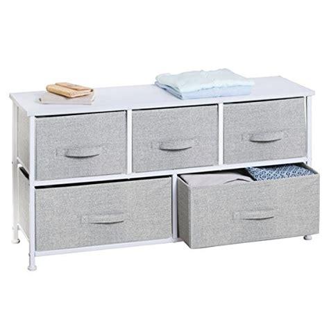 Fabric Storage Drawer by Mdesign Fabric 5 Drawer Storage Organizer Unit For Closet