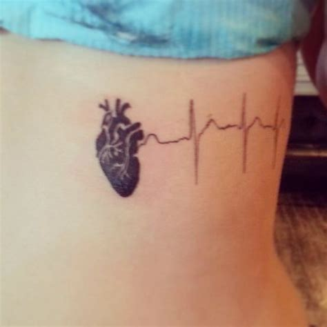 Heartbeat Rhythm Tattoo | heart beat tattoo tattoo ideas pinterest