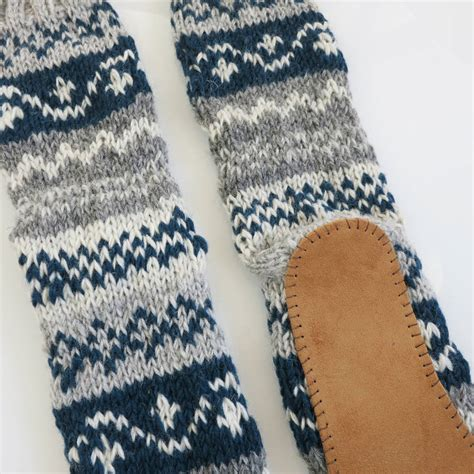 pattern for slipper socks with suede sole long knit slipper socks with faux suede sole by aura que