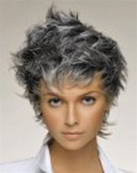 short styles for grey hair streaked short haircuts for grey hair