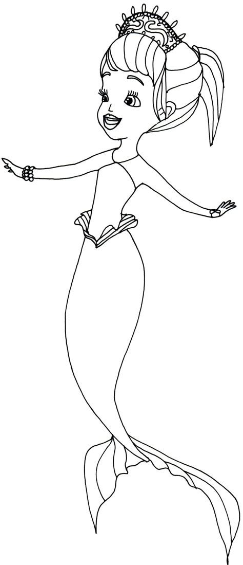 Sofia The Mermaid Coloring Pages sofia the coloring pages oona sofia the