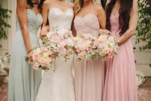 pretty pastel tones bridesmaid dresses for spring summer