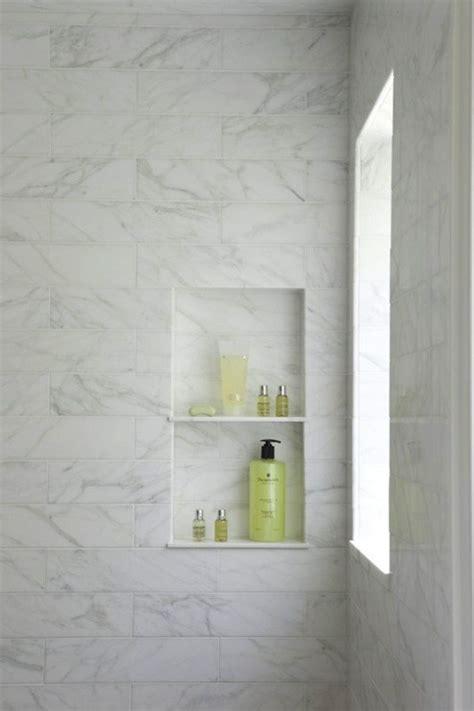 Marble Shower Shelf by Designing The Shower Niche Diy Decorator