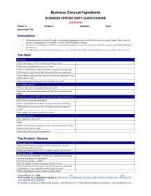 Product Concept Template business concept template