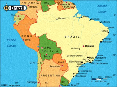 neighboring countries of brazil maps of brazil