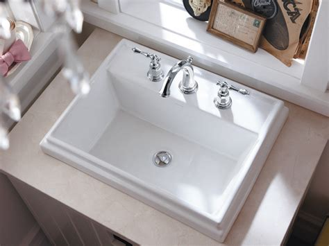 how to install drop in bathroom sink the drop in bathroom sink with the proud name kohler