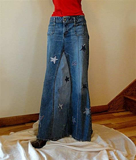 jean skirt hippie jean skirt of