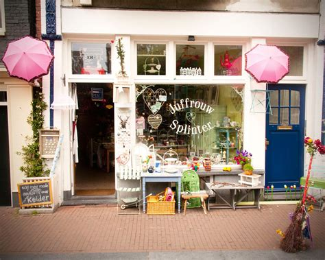 cottage chic store antique storefront shabby chic de jordaan neighborhood