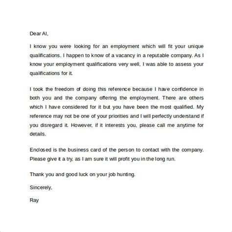 personal reference letter template 12 samples