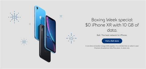 get a 0 iphone xr and 10gb of data starting at 115 per month with bell