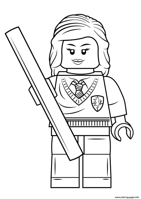 harry potter coloring pages pdf print lego hermione granger harry potter coloring pages