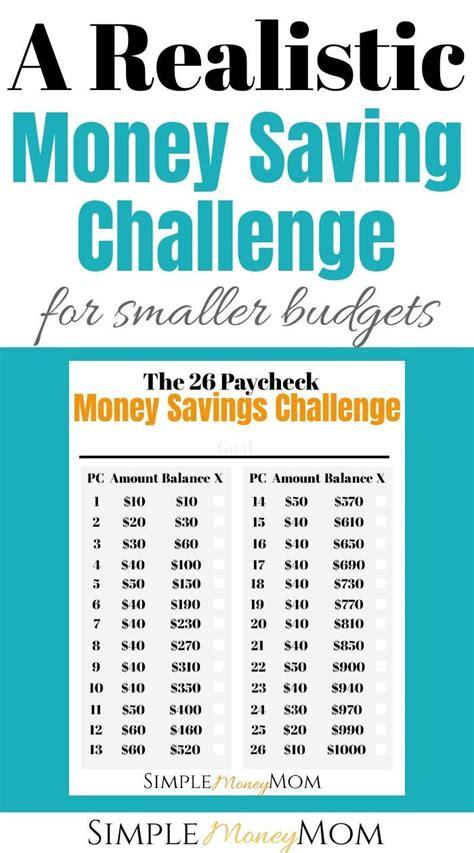 realistic money savings challenge  smaller budgets