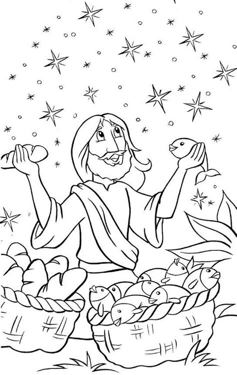 printable coloring pages jesus feeds 5000 jesus feeds 5000 coloring pages