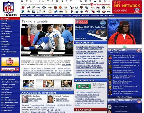 nfl national football league web site attachment jivebay