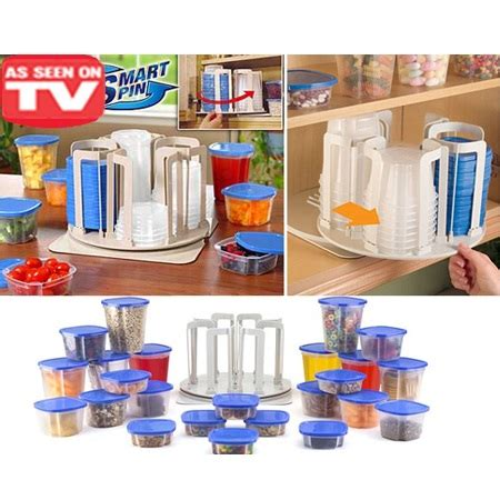 marvel spin n store kitchen organizer with 24 plastic storage jakartanotebook
