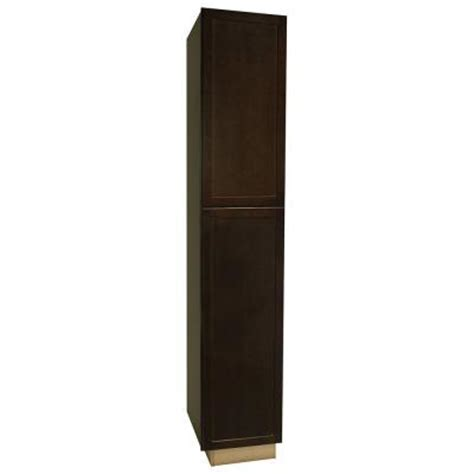 hton bay 18x96x24 in shaker pantry cabinet in java