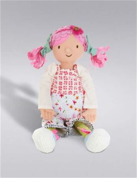 m s rag doll emily button medium rag doll soft m s