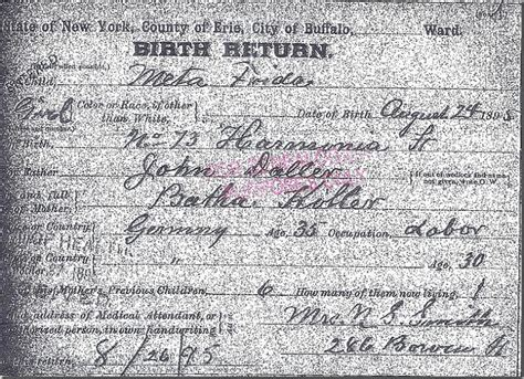 Buffalo Birth Records Michigan Family Trails Amanuensis Monday Birth Records What Information Do