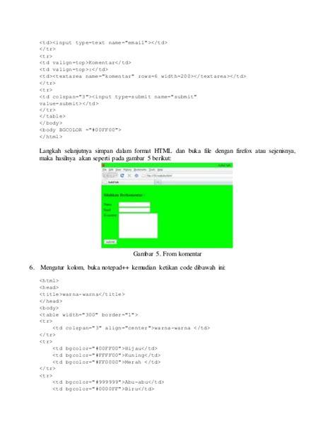 membuat web html dengan notepad membuat desain website berbasis html dengan notepad