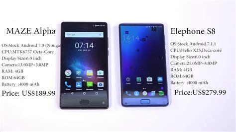 Elephone S8 maze alpha vs elephone s8