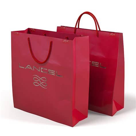 8 Fab Shopping Bags by Lancel Paper Carry Obj