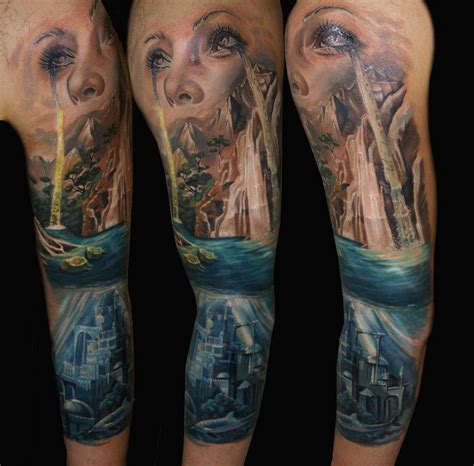 creative design tattoos creative sleeve by csaba kolozsvari design