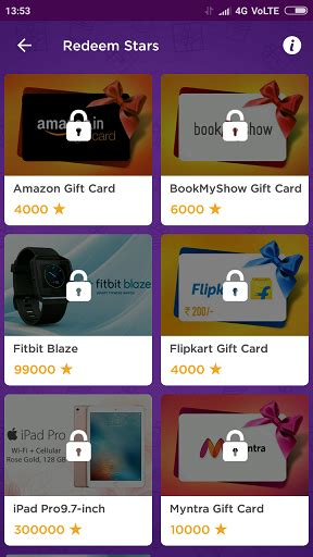 Myntra Gift Card - lucky stars app refer earn amazon flipkart bookmyshow myntra vouchers