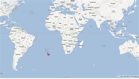 map of da world tristan da cunha map