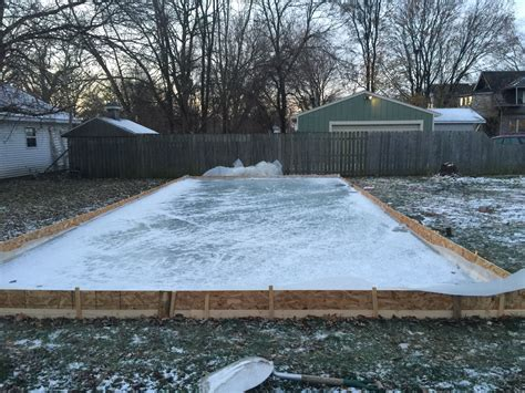 backyard ice diy backyard ice rink make