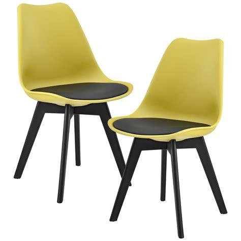 en casa 2x design st 252 hle esszimmer stuhl holz kunststoff - Stuhl Plastik Holz