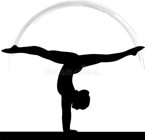 clipart ginnastica fascio di equilibrio di ginnastica delle donne