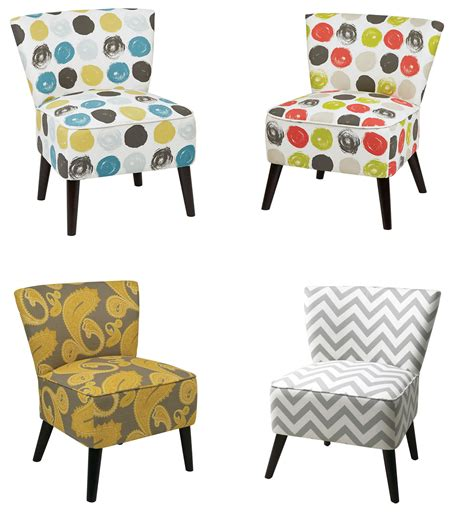 accent chairs for living room bedroom home armless ave six apollo armless fabric wood accent living room