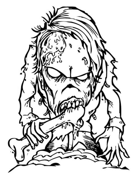Coloring Pages Of Scary Monsters scary monsters free coloring pages