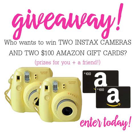 Giveaway Amazon Gift Card - camera amazon gift card giveaway