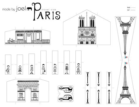 christmas crafts for kids from paris made by joel 187 travel size paper city